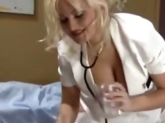Blonde, Handjob, Medical, Nurse,