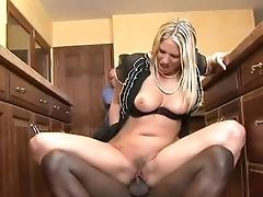 Big Black Cock, Blonde, Cuckold, Dick, Fucking, Gorgeous, Interracial, Jordan Kingsley, Kitchen, Mature,