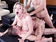 Anal Sex, Ass Fucking, Big Tits, Blonde, Blowjob, Couch, Cum In Mouth, Cumshot, Daddies, Doggystyle,