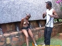 African, Black, Bondage, Couple, Fetish, Natural Tits, Outdoor, Sexy,