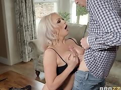 Ass, Big Tits, Blonde, Blowjob, Couch, Doggystyle, HD, MILF, Missionary, Mom,
