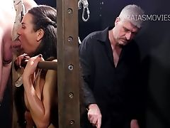 BDSM, Caning, Clamp, Deepthroat, HD, Nataly Gold, Phone, Submissive,
