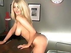 Blonde, Nude, Office,