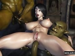 3d, Beauty, Cartoon, Fantasy, Threesome,
