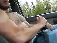 Amateur, Big Cock, Car, Fondling, Masturbation, Outdoor,