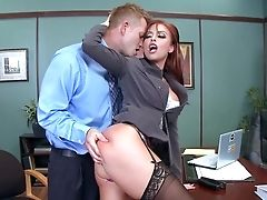 Anal Sex, Blowjob, Close Up, Deepthroat, Desk, Doggystyle, Ginger, HD, Office, Pornstar,