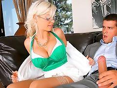 Big Tits, Blonde, Blowjob, Britney Amber, Clothed Sex, Dick, Fat, Glasses, Lingerie, Riding,