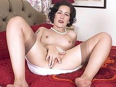 Cute, GILF, Masturbation, MILF, Rough, Solo, Stockings, Wife,