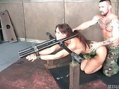 BDSM, Big Tits, Blowjob, Bondage, Brunette, Deepthroat, Face Fucking, Hardcore, MILF, Mmf,