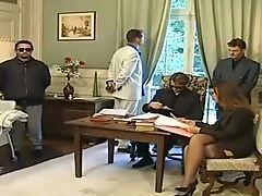 Classic, Double Penetration, Italian, Karen Lancaume, Office, Retro, Secretary, Threesome, Vintage,