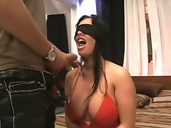 Big Tits, Brunette, Cumshot, Facial, Kerry Louise, Pornstar, Threesome,