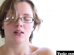 Amateur, Blonde, Clit, Cum, Fingering, Glasses, Hairy, HD, Masturbation, Moaning,