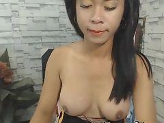 Autofellatio, Big Tits, Cute, Dick, Masturbation, Shemale, Tranny, Webcam,
