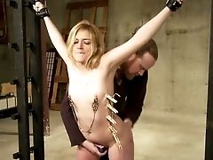 Babe, BDSM, Clamp, Hardcore, Mistress, Nipples, Pussy, Submissive,