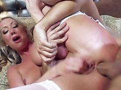 Anal Sex, Bedroom, Big Tits, Blonde, Blowjob, Bride, Deepthroat, Fake Tits, HD, Huge Cock,