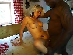 Black, Blonde, Couple, Kitchen, Mature, MILF, Pornstar, Shorts, Wife,