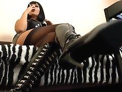 Boots, HD, Mistress, POV, Smoking, Solo, Worship,