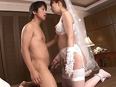 Bride, Couple, Horny, Hunk, Japanese, Lingerie, Nylon, Stockings,