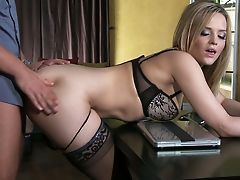 Alexis Texas, Ass, Big Ass, Blonde, Cute, From Behind, Lingerie, Rough, Sexy, Stockings,