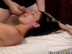Blowjob, Clamp, Couple, Cute, Fucking, Hardcore, Missionary, Natural Tits, Pussy,