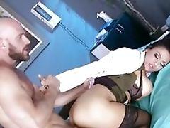 Audrey Bitoni, Beauty, Big Tits, Condom, Fucking, MILF, POV, Pussy, Uniform, Young,