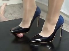Femdom, Foot Fetish, Footjob, High Heels, Phone,