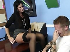 American, Black, Blowjob, Brunette, Classroom, Clothed Sex, Desk, Hardcore, India Summer, Licking,
