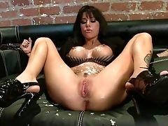 BDSM, Black, Bondage, Brunette, Coach, Couch, Fingering, Gia Dimarco, Humiliation,