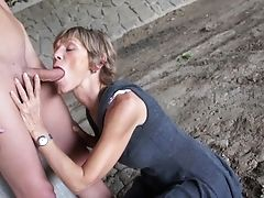 Cougar, Mature, Outdoor, Short Haired, Skinny,