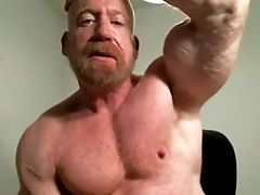 Bear, Bodybuilder, Flexible, Huge Cock, Jock, Master, Muscular, Posing, Teasing, Webcam,