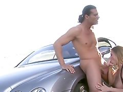 Bareback, Big Tits, Blonde, Blowjob, Car, Couple, Cowgirl, Devon Lee, Doggystyle, Fake Tits,