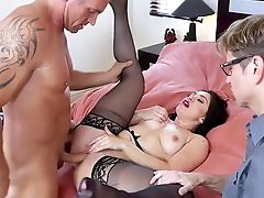 Bedroom, Big Ass, Big Tits, Blowjob, Brunette, Brutal, Cheating, Cowgirl, Cuckold, Cum In Mouth,