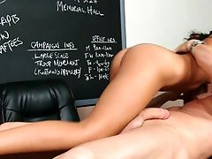 Anal Sex, Ass, Classroom, College, Desk, Dick, Glasses, Hardcore, Lou Charmelle, Riding,