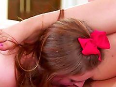 Ass Licking, Bedroom, Big Natural Tits, Fingering, Friend, Lesbian, Licking, Natural Tits, Shorts,