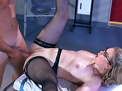 Amazing, Ass, Blonde, Blowjob, Bukkake, Clinic, Close Up, Cumshot, Dick, Doctor,