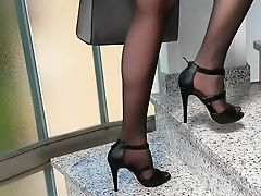 Big Tits, Foot Fetish, High Heels, Nylon,