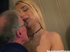 Babe, Blonde, Couple, Hardcore, Natural Tits, Old, Seduction, Young,