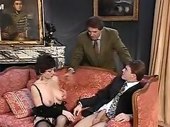 Big Tits, Brunette, Fetish, Homemade, MILF, Stockings, Threesome, Vintage,