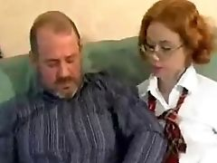 Bold, College, Cumshot, Daughter, Extreme, Fucking, Ginger, Glasses, Old, Old And Young,