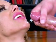 Blonde, Blowjob, Boss, Cumshot, Cute, Desk, Facial, Hardcore, HD, High Heels,