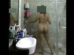 Amazing, Exhibitionist, Hairy, Indian, Mature, Shower,