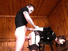 BDSM, Desk, Doggystyle, Fetish, Pussy, Rough, Spanking, Submissive,
