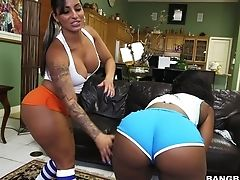 Ass, Babe, Big Tits, Black, Fake Tits, Fitness, HD, Interracial, Kitchen, Lesbian,