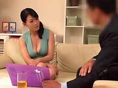 Asian, Babe, Blowjob, CFNM, Clothed Sex, Couch, Couple, Cowgirl, Doggystyle, Ethnic,