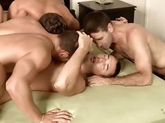 Bareback, Double Penetration, Group Sex, Hunk, Muscular,