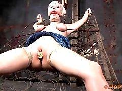 BDSM, Blonde, Femdom, Fetish, Gagging, Pain, Short Haired, Submissive, Torture,