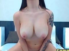 Ass Fucking, Babe, Big Tits, Dildo, Long Hair, Masturbation, Model, Natural Tits, Solo, Tattoo,