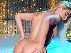 Anal Sex, Ass, Bedroom, Blonde, Blowjob, Dick, Doggystyle, Facial, HD, Lingerie,