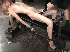 BDSM, Blonde, Cute, Deepthroat, Dungeon, Fetish, Submissive,