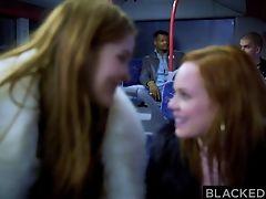 Big Black Cock, Big Cock, Black, Blowjob, Bus, Cumshot, Doggystyle, HD, Interracial, Redhead,